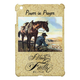 I Have Faith Cowboy iPad Mini Cases