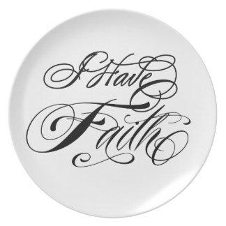 I Have Faith Dinner Plates