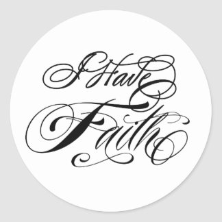 I Have Faith Classic Round Sticker