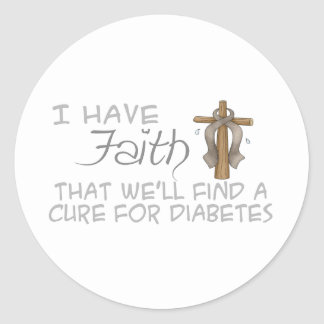 I Have FAITH We'll Find A Cure For Diabetes Stickers