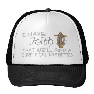 I Have FAITH We'll Find A Cure For Diabetes Trucker Hat