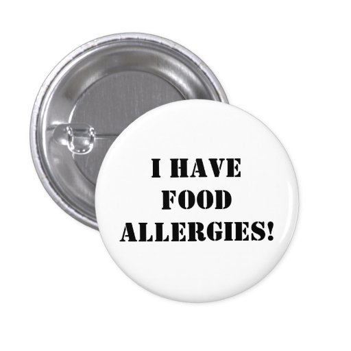 I have food allergies! button