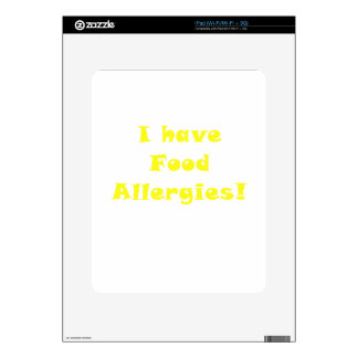 I Have Food Allergies Decal For iPad