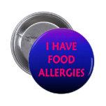 I have food allergies pins