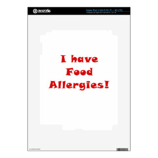 I Have Food Allergies Skin For iPad 3
