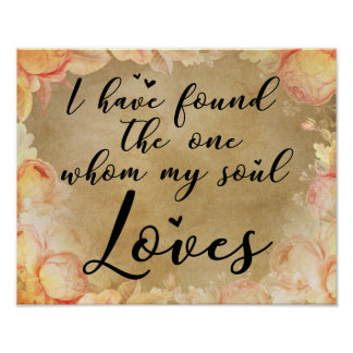 I have found the one whom my soul loves poster