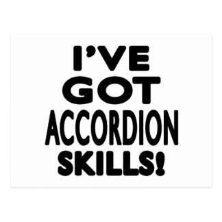 I have got Accordion skill Postcard
