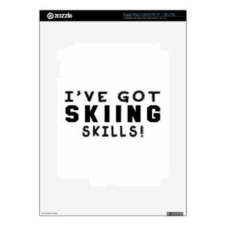 I Have Got Skiing Skills Skin For iPad 3