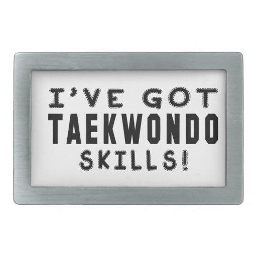 I Have Got Taekwondo Martial Arts Skills Belt Buckles