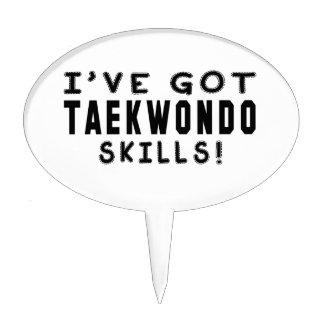 I Have Got Taekwondo Skills Cake Picks