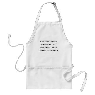 I HAVE INVENTED A MACHINE.png Adult Apron