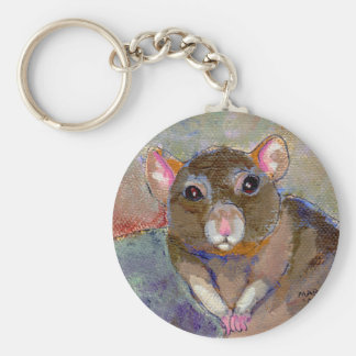 I Have Issues - fun sensitive pet rat painting art Basic Round Button Keychain