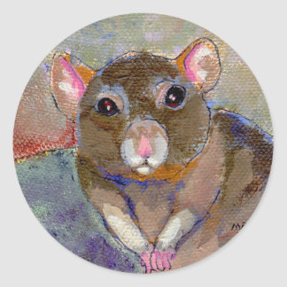 I Have Issues - fun sensitive pet rat painting art Classic Round Sticker