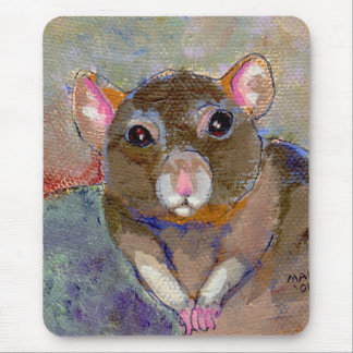 I Have Issues - fun sensitive pet rat painting art Mouse Pad