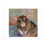 I Have Issues - fun sensitive pet rat painting art Postcards
