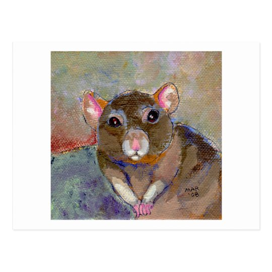 I Have Issues - fun sensitive pet rat painting art Postcard