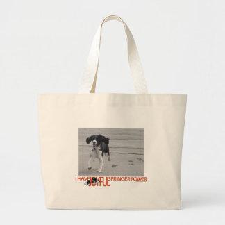 I Have Joyful Springer Power Customize With Photo Large Tote Bag