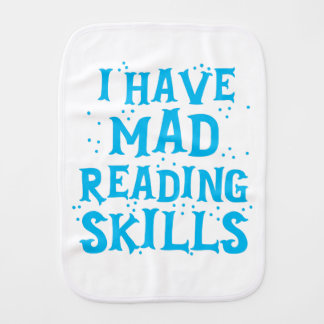 i have mad reading skills baby burp cloth