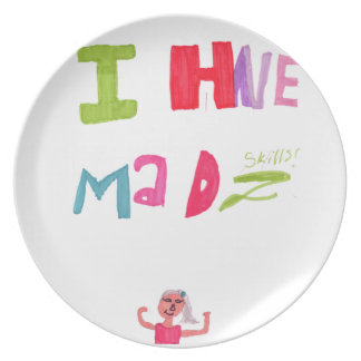 I have mad skills party plate
