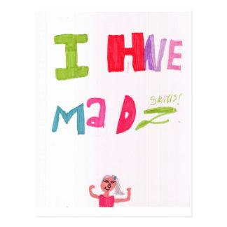 I have mad skills postcard