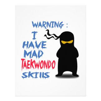 I Have Mad Taekwondo Skills Letterhead Template