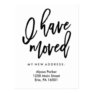 I Have Moved | Simple Modern Typography Postcard