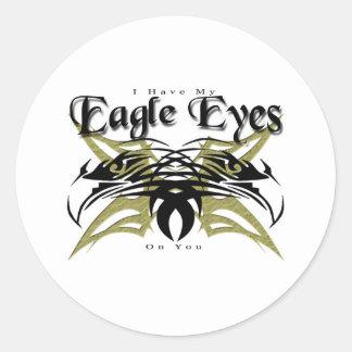 I Have My Eagle Eyes #2 Round Sticker