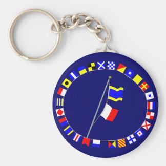 """I have no boat."" Signal Flag Hoist Keychain"