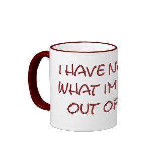 I have no idea what I'm doing out of bed Ringer Mug