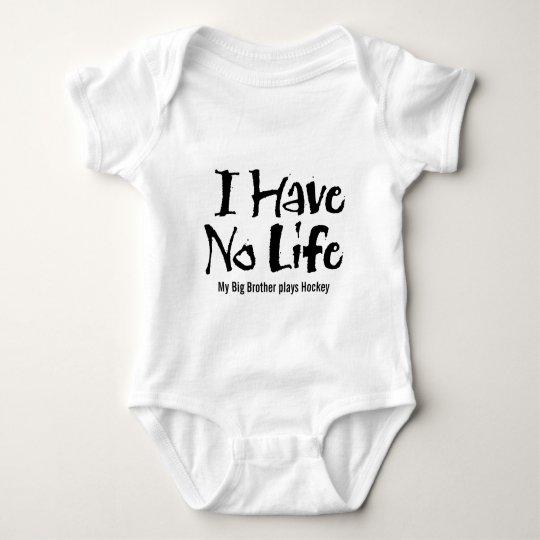 I Have No Life (Black) Baby Bodysuit
