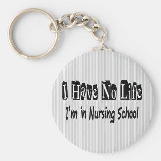 I Have No Life Funny Nursing School Basic Round Button Keychain
