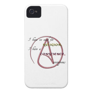 I Have No Need for Religion with Atheist Symbol iPhone 4 Case