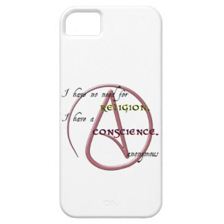 I Have No Need for Religion with Atheist Symbol iPhone SE/5/5s Case