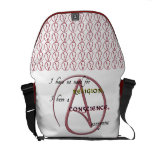 I Have No Need for Religion with Atheist Symbol Courier Bag