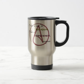 I Have No Need for Religion with Atheist Symbol 15 Oz Stainless Steel Travel Mug