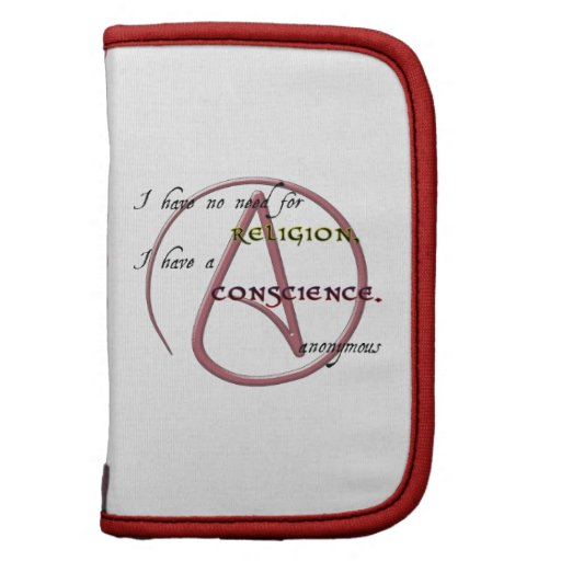 I Have No Need for Religion with Atheist Symbol Planner