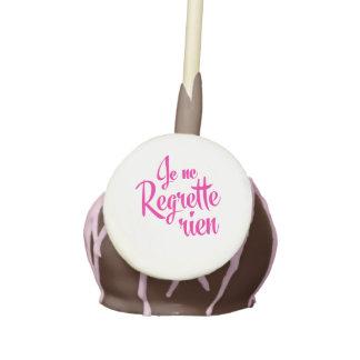 I have no regrets - Je Ne Regrette Rien French Cake Pops
