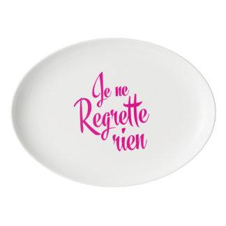 I have no regrets - Je Ne Regrette Rien French Porcelain Serving Platter