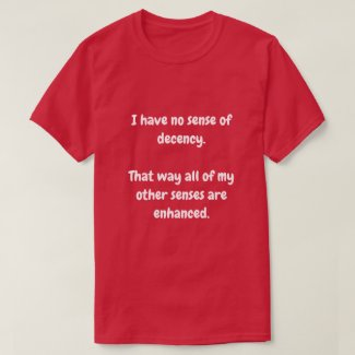 I have no sense of decency. T-Shirt