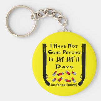 I Have Not Gone Psycho In Days Shotgun Basic Round Button Keychain