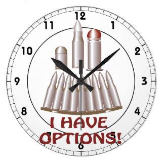 I Have Options Large Clock