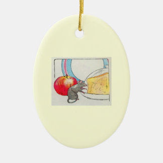 I have seen you, little mouse ceramic ornament