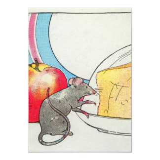 I have seen you, little mouse 5x7 paper invitation card