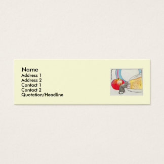 I have seen you, little mouse mini business card