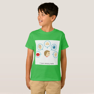 I Have Sensory Needs - Kid's T-Shirt (Green)