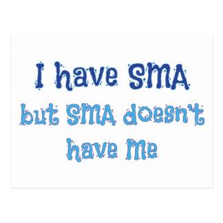 I Have SMA - Blue Postcard