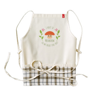 I Have So Mushroom In My Heart For You Pun Humor Zazzle HEART Apron