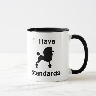 I Have Standards (Poodle) Mug