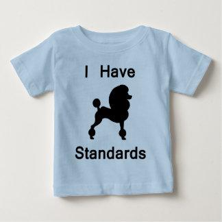 I Have Standards (Poodle) Tee Shirts