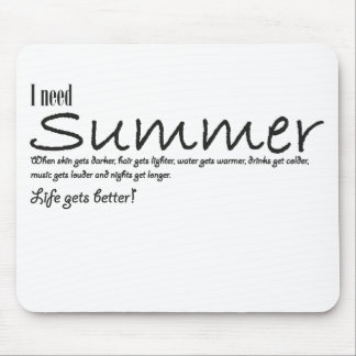 I have summer necessary mousepad black blank
